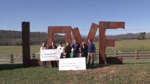 LOCKN' presenting checks to charities