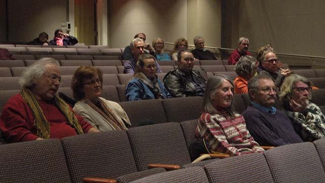 The audience participated in a discussion following the viewing
