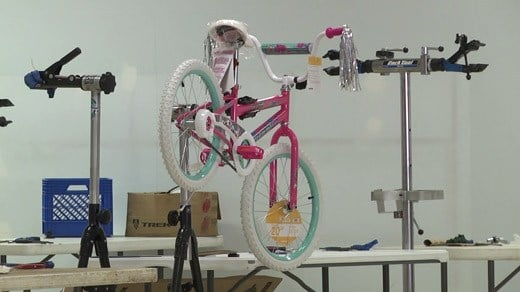 Assembled, donated bicycle for Toy Lift