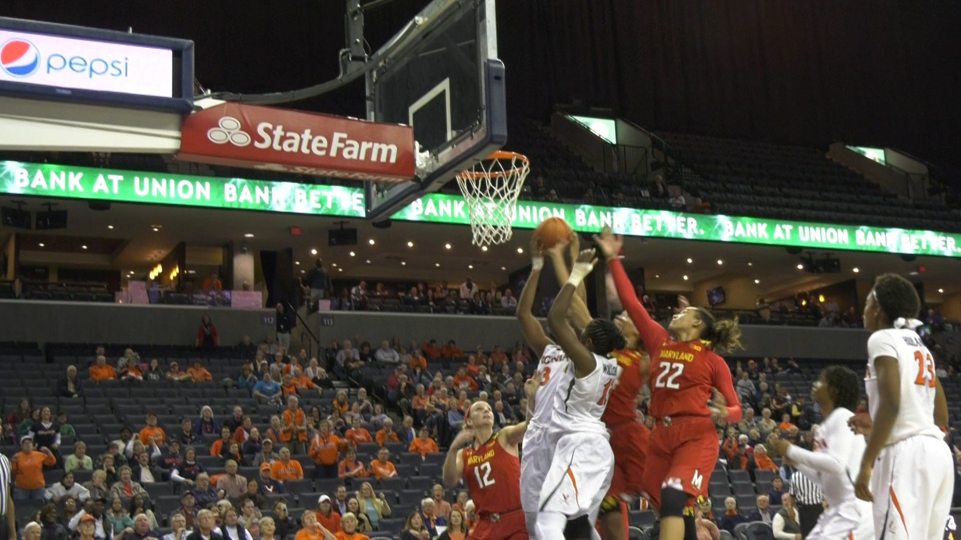 The Cavaliers were unable to secure a rebound in the final seconds against Maryland