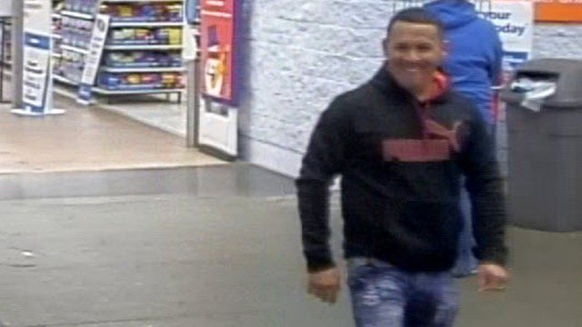 Surveillance photo of one of the suspects