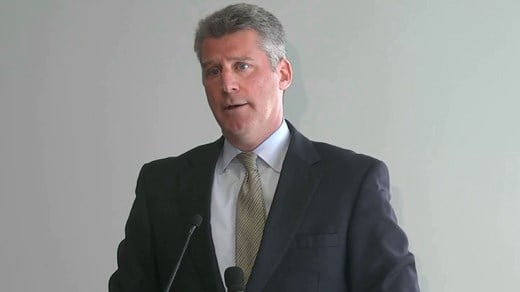 Tim Heaphy holding a press conference on independent review