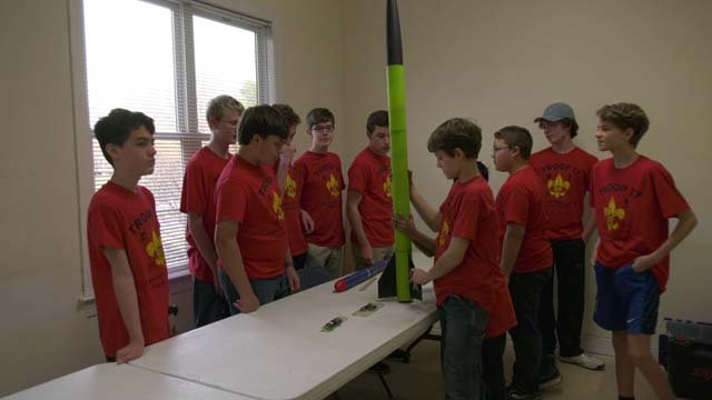 Charlottesville Boy Scouts working with NASA