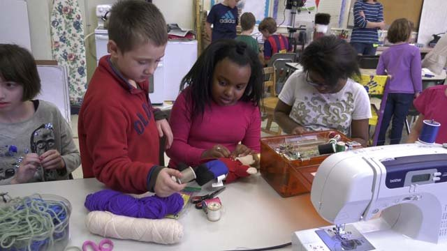 Stony Point Elementary students working