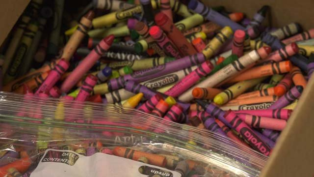 So far, 160 pounds of crayons have been collected