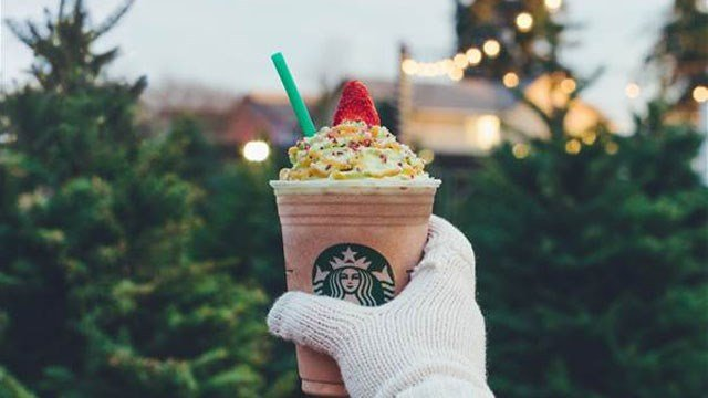 Starbucks Christmas Tree Frappacino