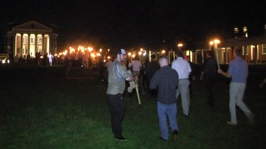 Tiki torch march at UVA on August 11 (FILE IMAGE)