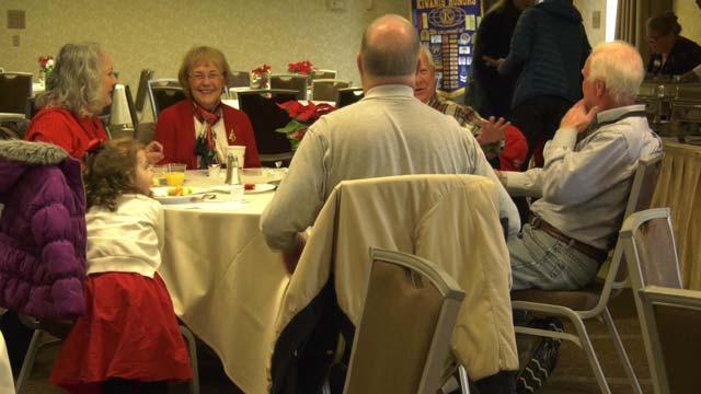 The Kiwanis Club hosted a pancake breakfast