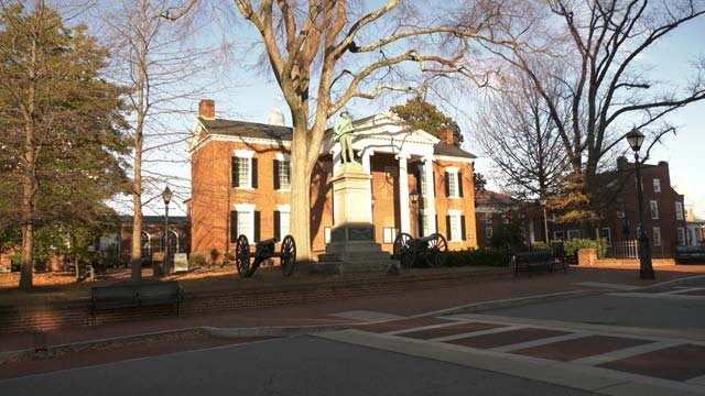 Court Square in downtown Charlottesville