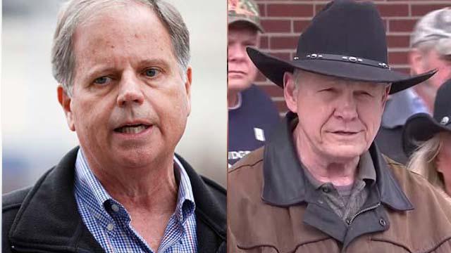 Doug Jones (Left) and Roy Moore (Right)