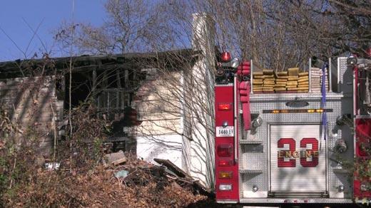 Scene of a fatal house fire along Matthew Mill Road (FILE IMAGE)