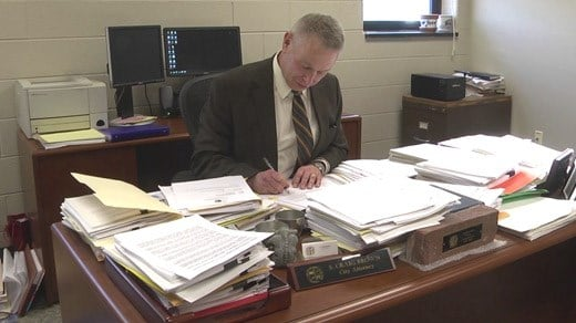 Craig Brown at his desk