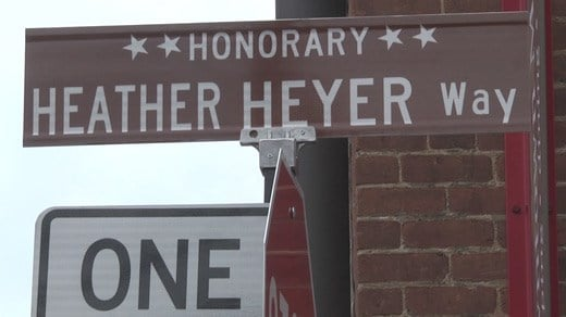 Honorary Heather Heyer Way sign in Charlottesville