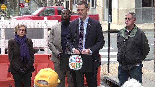 Councilor Kathy Galvin, Vice Mayor Wes Bellamy, Mayor Mike Signer, Councilor Bob Fenwick