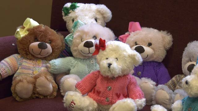 A former patient donated stuffed bears