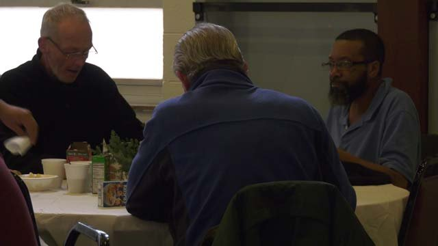 A free breakfast buffet was provided on Dec. 24