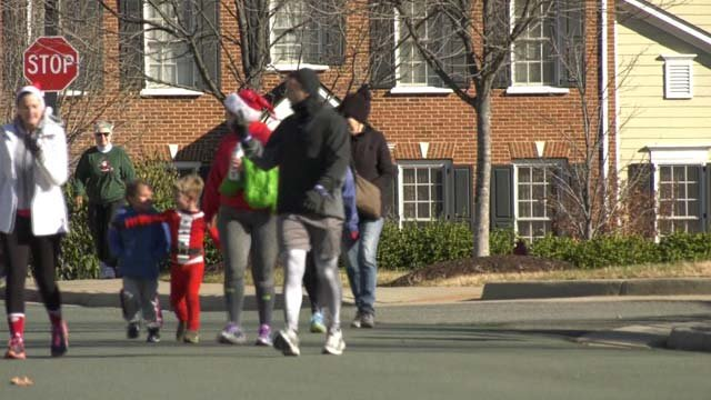 Families came out for the annual Jingle Jog