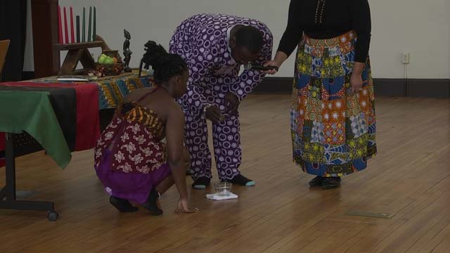 A Kwanzaa celebration was held at the Jefferson Center