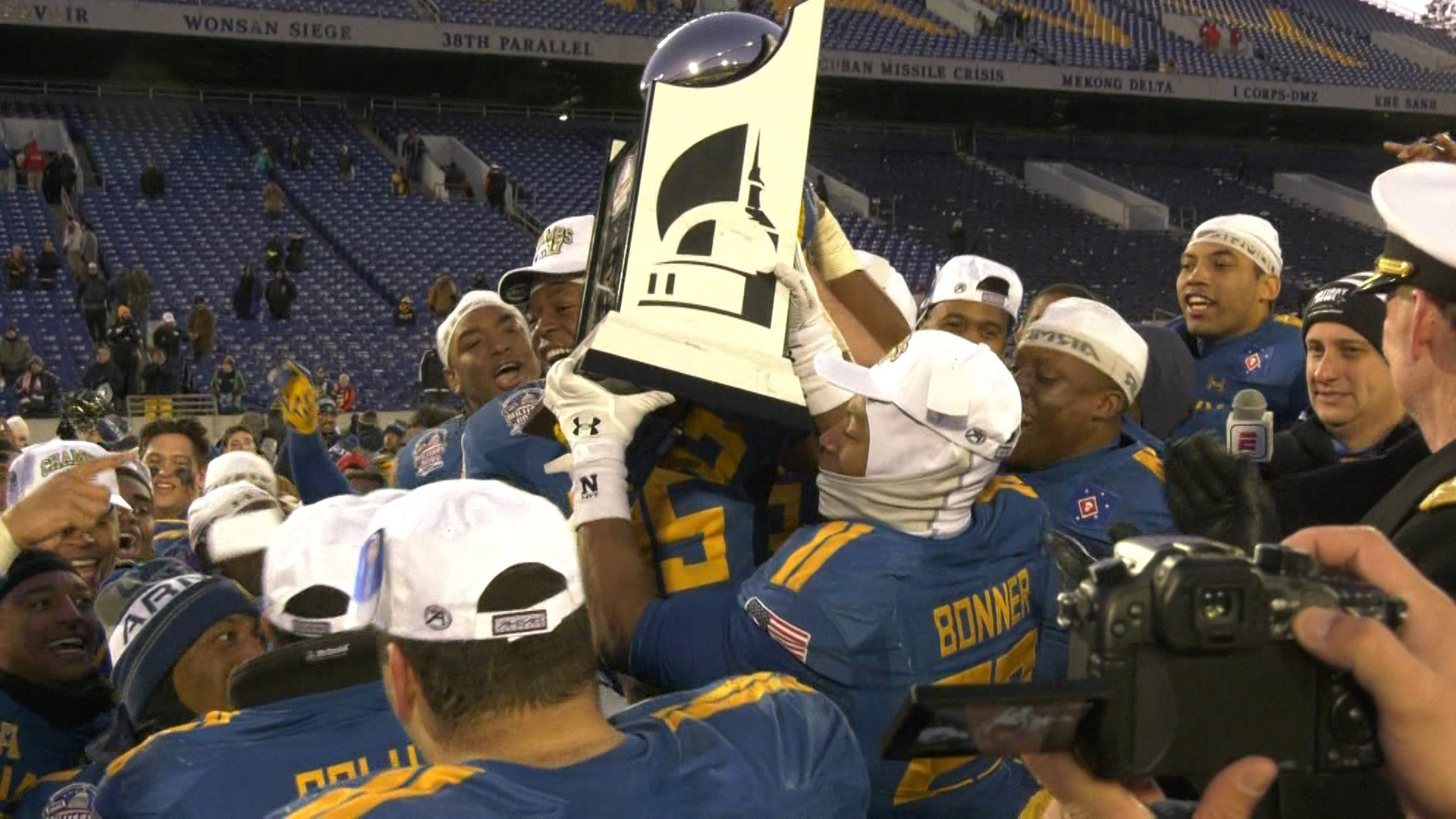 Navy wins the Military Bowl 49-7