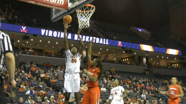 Felicia Aiyeotan scored 12 points and grabbed 10 rebounds for UVa