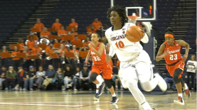 J'Kyra Brown had 12 points and 6 rebounds off the bench for the 'Hoos