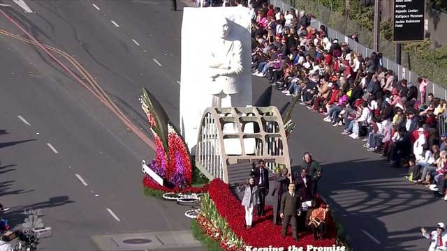 AHF float at Rose Parade