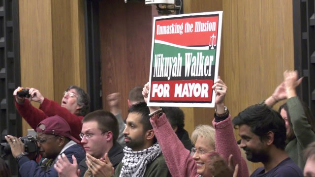 Nikuyah Walker supporters at Charlottesville City Council