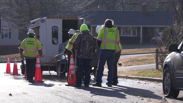 crews working in Charlottesville
