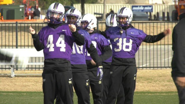 The JMU football team is on the practice field in Frisco, Texas