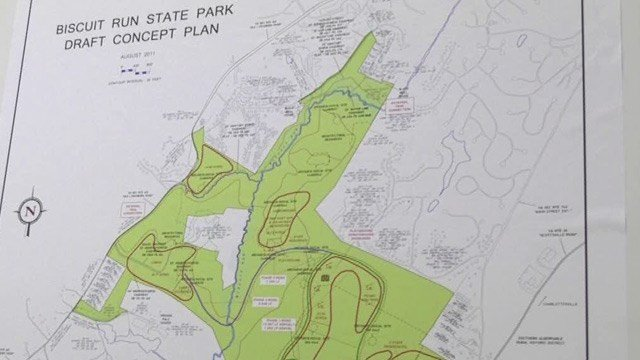 Draft concept plan for Biscuit Run State Park