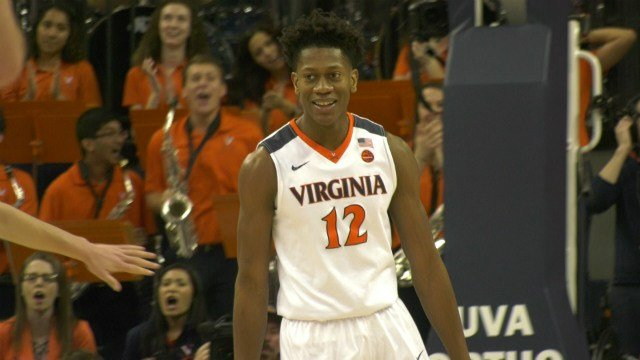 Redshirt freshman De'Andre Hunter had 10 points and 7 rebounds off the bench