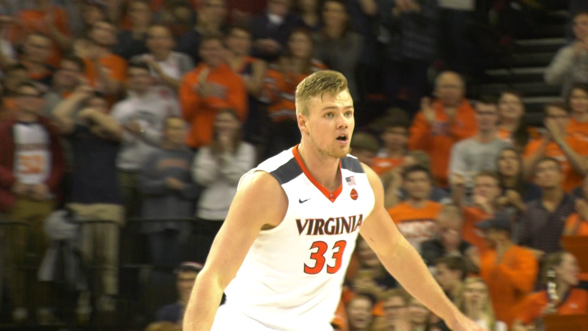 Virginia junior center Jack Salt
