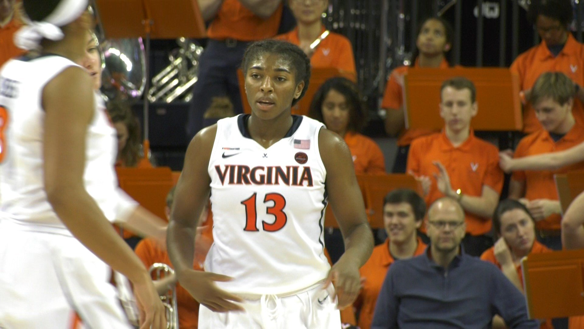 Sophomore guard Jocelyn Willoughby led the 'Hoos with 18 points and 11 rebounds