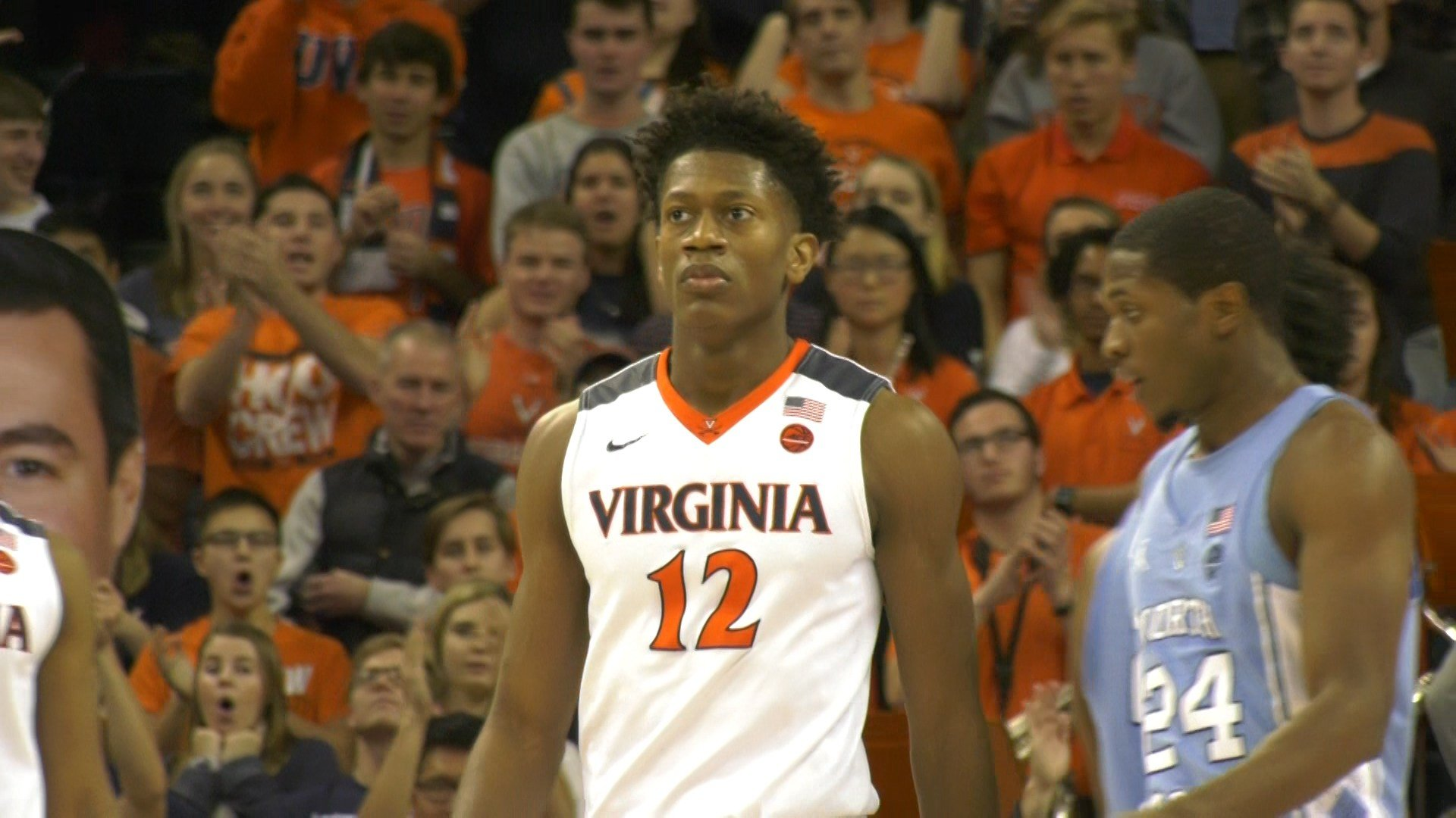 De'Andre Hunter has scored 24 total points in Virginia's last two wins