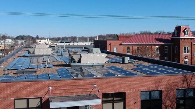 Roof of Indoor Biotechnologies (Photo courtesy Sigora Solar)