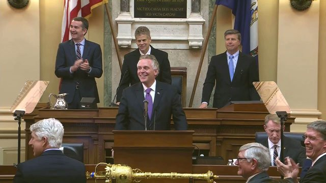 Gov. McAuliffe at the State of the Commonwealth