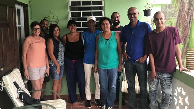 Alvarez with her family