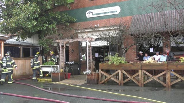 A fire at The Shebeen forced customers to evacuate