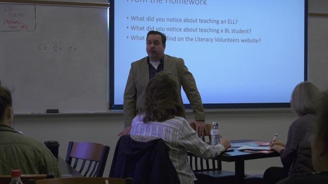 Volunteer tutors trained on Saturday, January 13