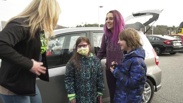 A family received a new car to help them make it to medical appointments