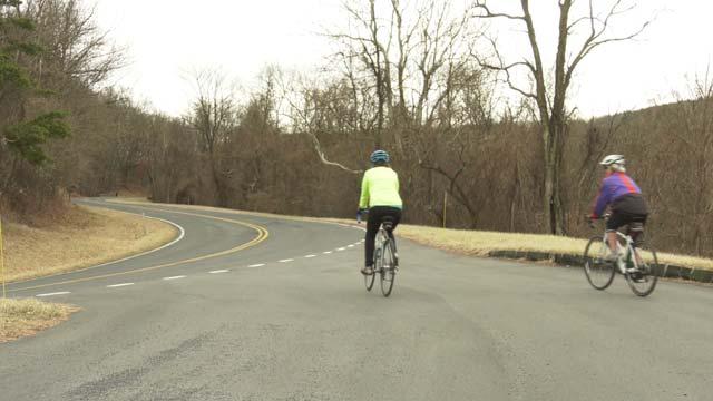 Bikers at Shenandoah National Park