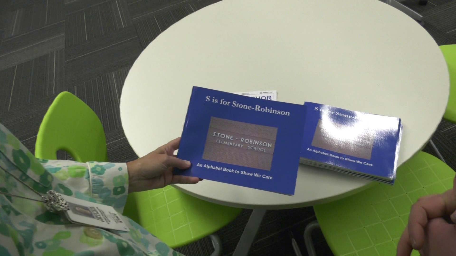 The students published a book to raise funds