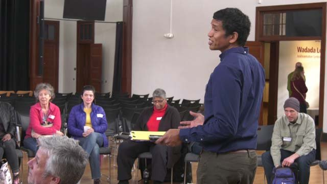 Clarence Green organized Saturday's discussion