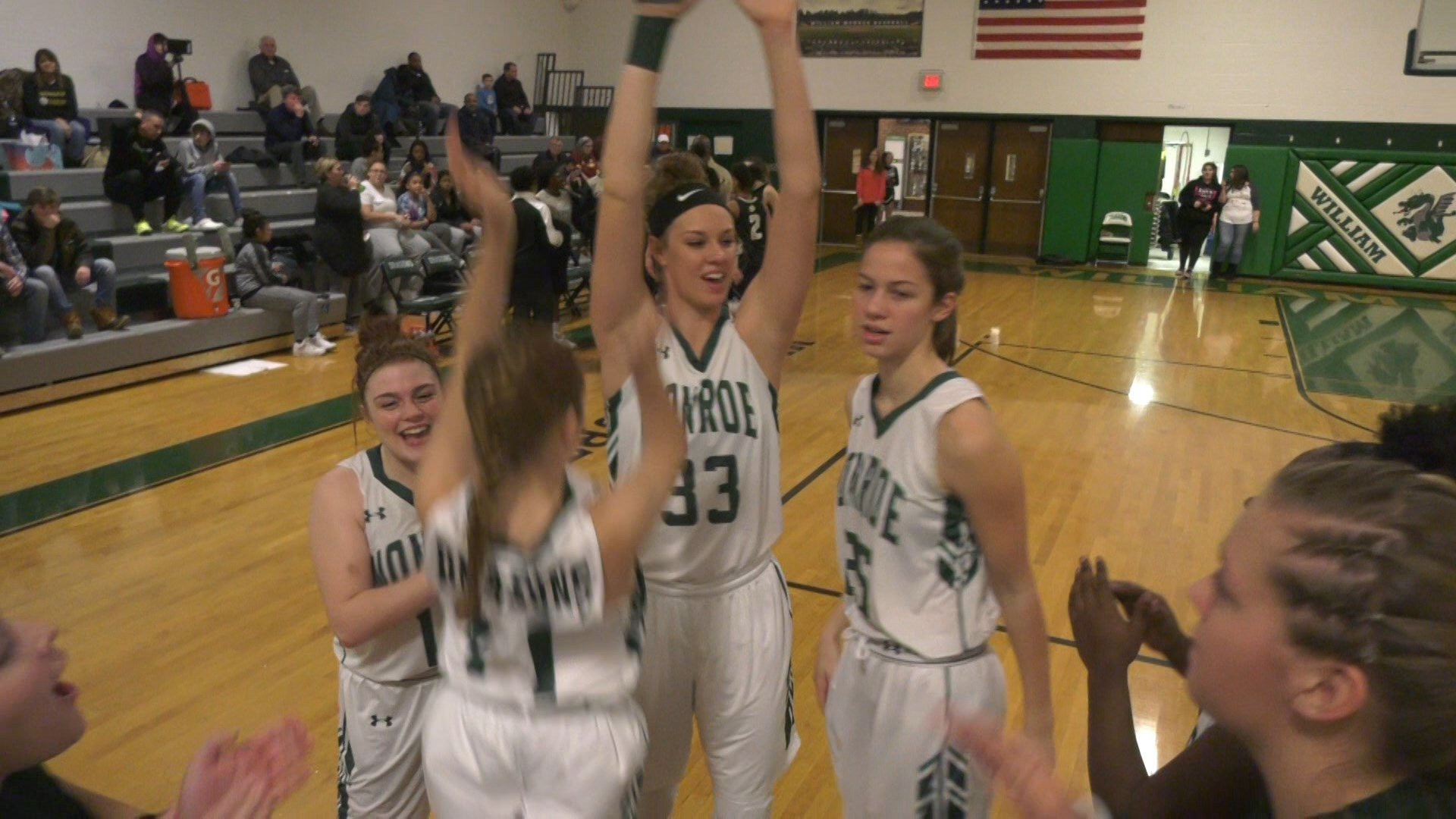 The William Monroe HS girls basketball team improves to 18-0