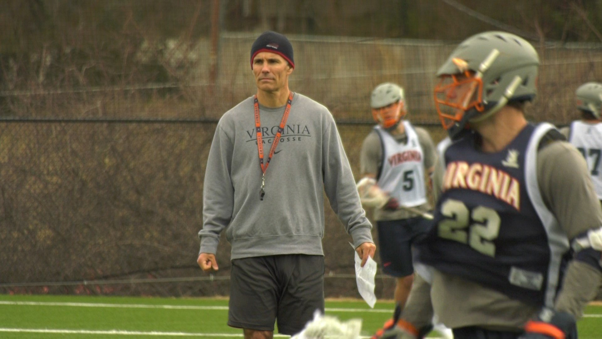 UVa head lacrosse coach Lars Tiffany
