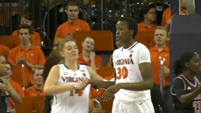 Felicia Aiyeotan had 8 points and 6 rebounds for UVa