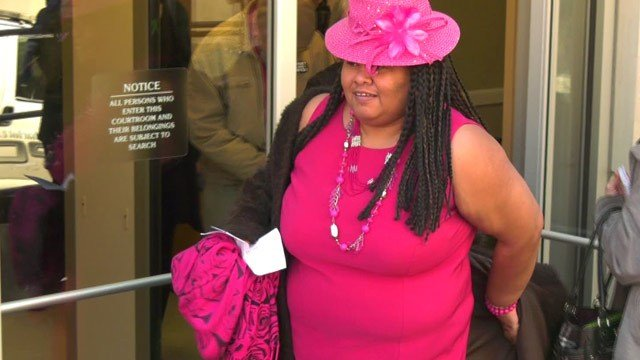 Veronica H. Fitzhugh leaving Charlottesville General District Court