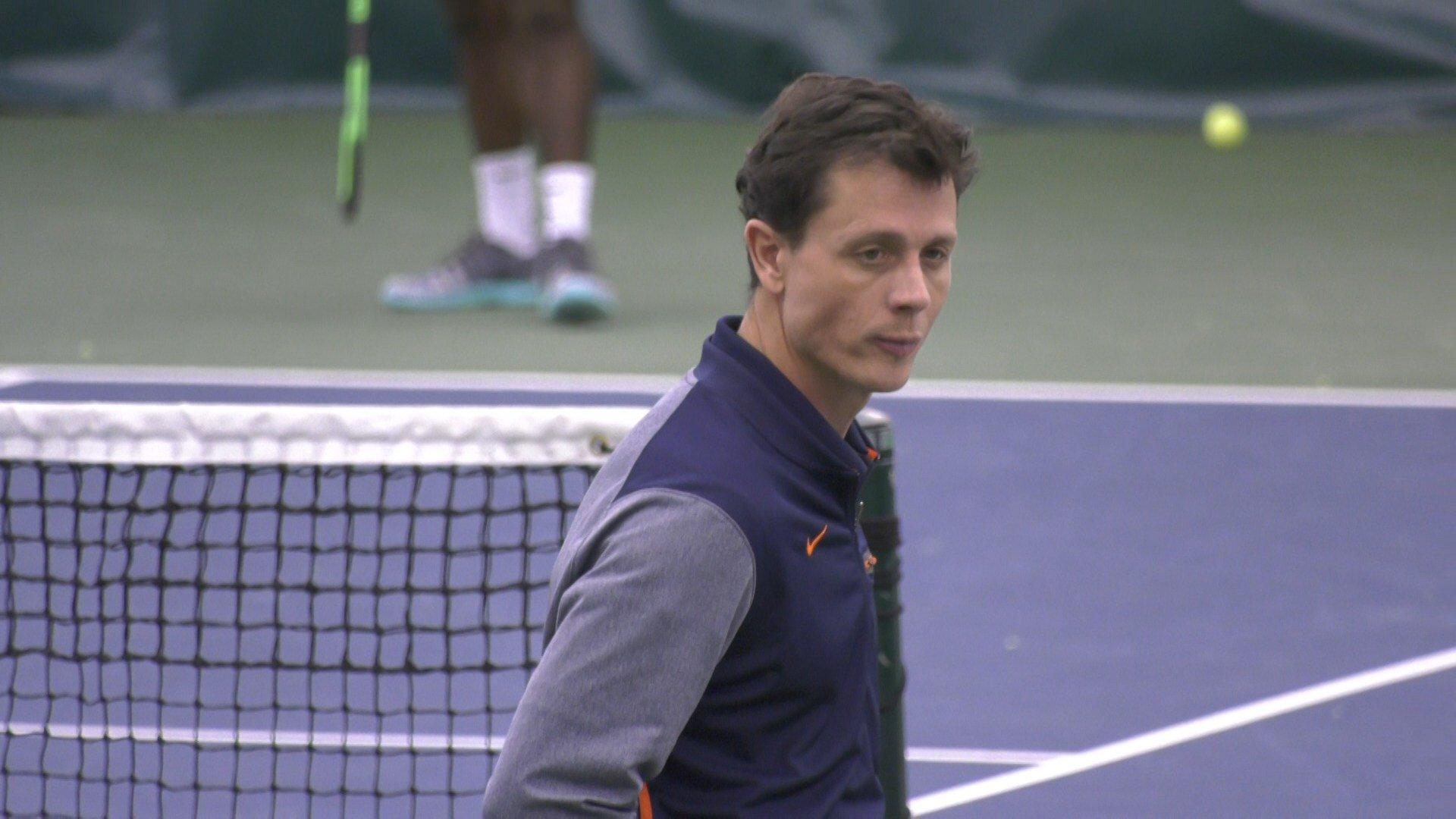 Virginia head coach Andres Pedroso