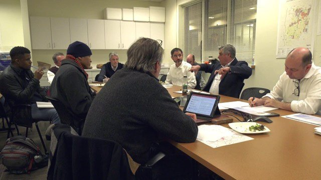 Members of the PLACE Design Task Force meeting in Charlottesville