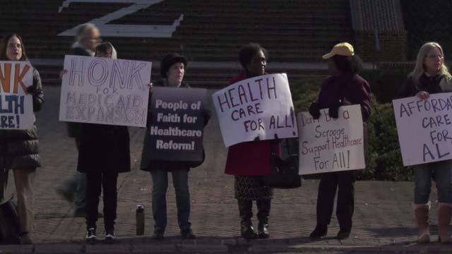 Medicaid expansion proponents at the Rotunda